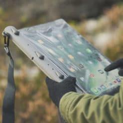 670 lifestyle1 waterproof ipad tablet case aquapac