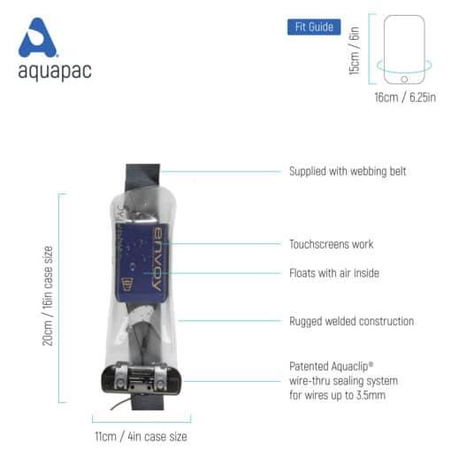 158b tech waterproof radio microphone case aquapac