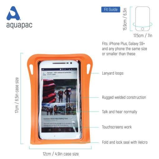081 tech waterproof phone case aquapac
