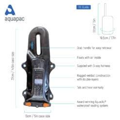 229black tech waterproof radio case aquapac