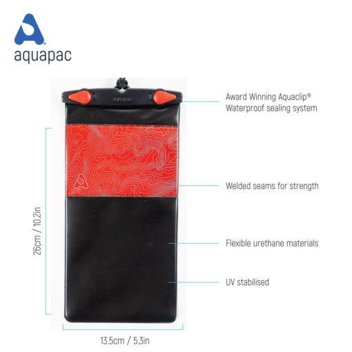 mpc50 tech waterproof phone case aquapac