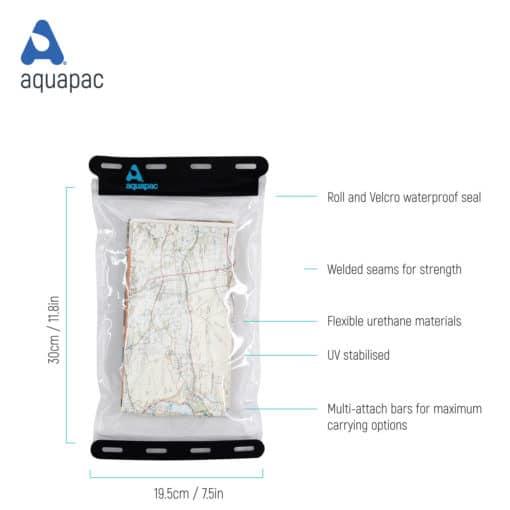 809 tech waterproof map case aquapac